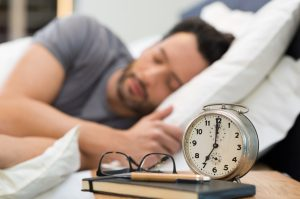 Man getting some much needed sleep (Fitness Krazy Blog)